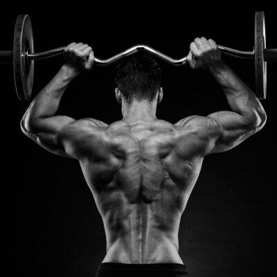 Affisch kroppsbyggare som visar ryggen