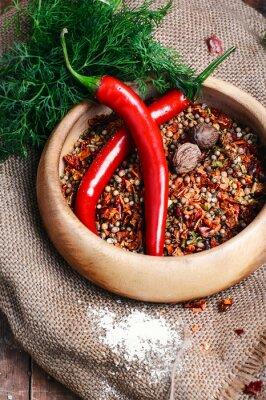 Affisch Kryddig peppar krydda