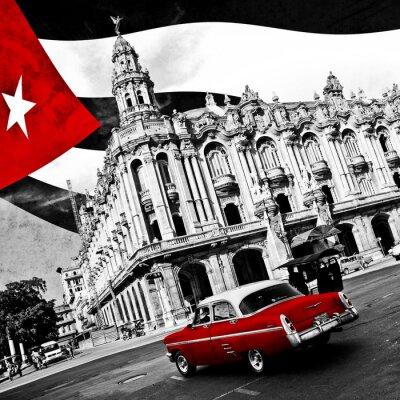Affisch Kuba (n & b)