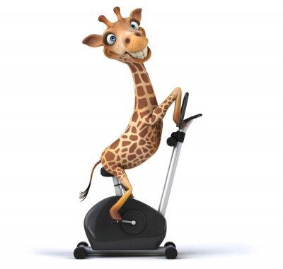 Affisch kul giraff