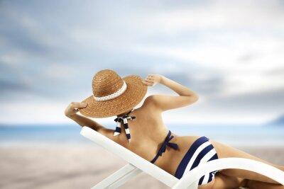 Affisch kvinna och bikini
