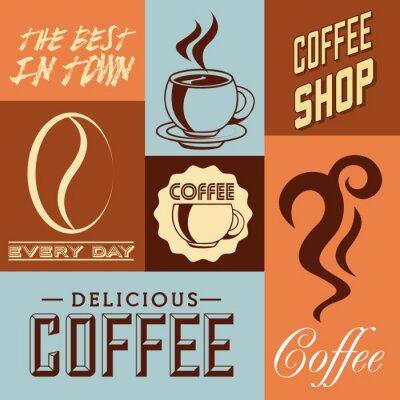 Affisch läcker kaffedesign