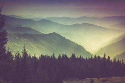 Affisch Lager av berg och dis i dalarna.