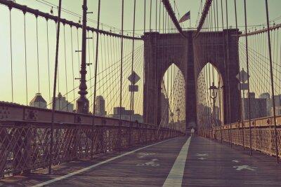Affisch Längs gågata, Brooklyn Bridge