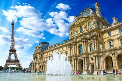 Affisch Le Louvre, Paris, Frankrike