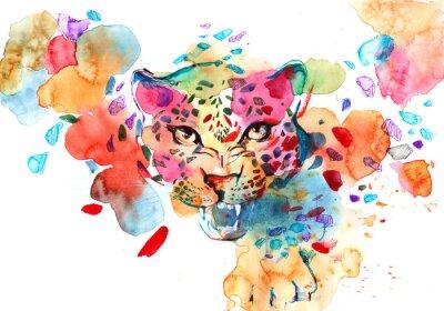 Affisch leopard
