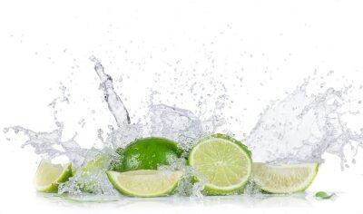 Affisch Lime med vattenstänk