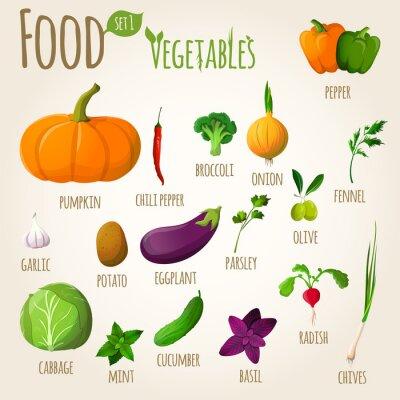 Affisch Livsmedels grönsaker inställd
