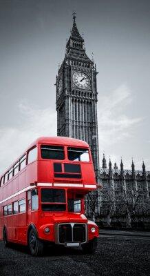 Affisch London buss und Big Ben