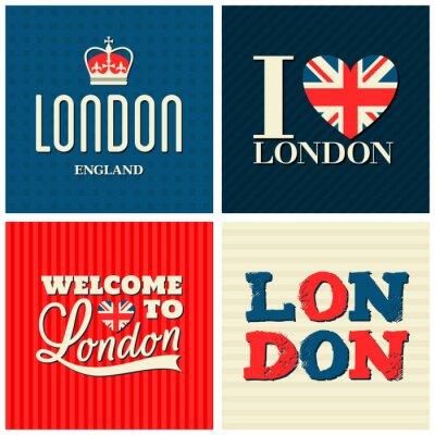 Affisch London Cards samlingen