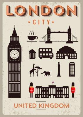 Affisch London City affischdesign