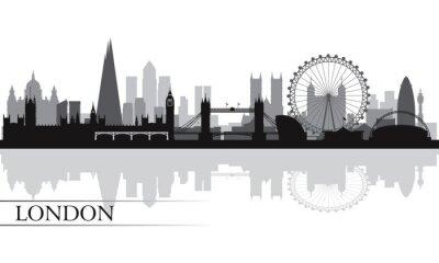 Affisch London City silhuett silhuett bakgrund