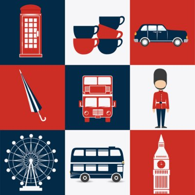 Affisch London design.