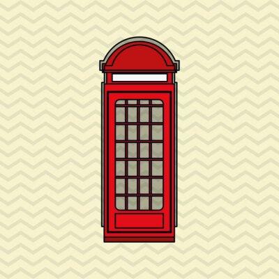 Affisch London ikonen design