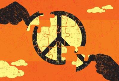Affisch Lösning för fred