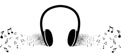 Affisch Lyssna på musik