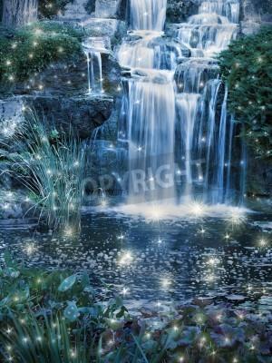 Affisch Magiska natten vattenfall scen