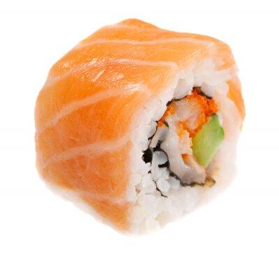 Affisch Maki sushi isolerad på vit bakgrund