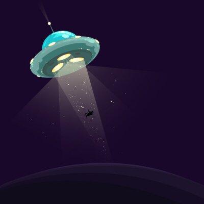Affisch Man bort av UFO