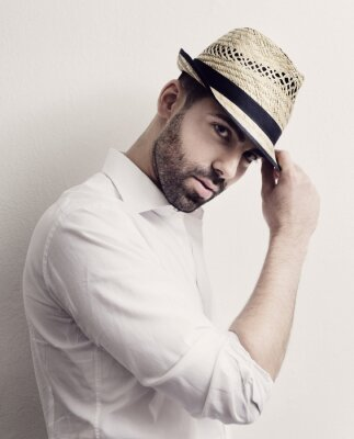 Affisch Man med hatt