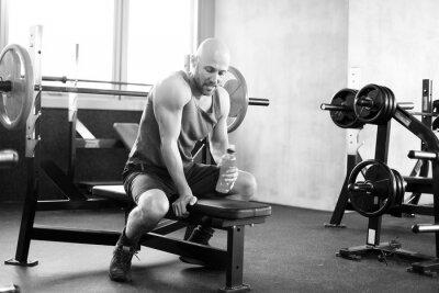 Affisch Man på gymmet