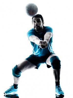 Affisch man volleyboll silhuett
