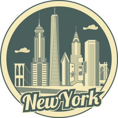 Affisch Manhattans skyline