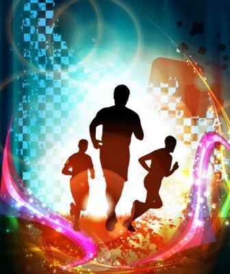 Affisch Maratonlöpare. Vektor