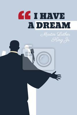 Affisch Martin Luther King Day flyer, banner or poster. Vector illustration