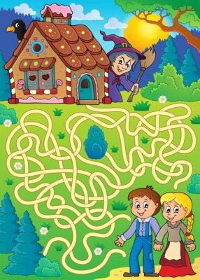Affisch Maze 30 med Hansel och Gretel tema