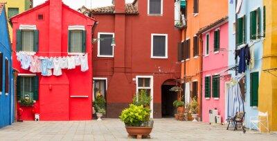 Affisch Medelhavet arkitektur i Burano, Italien
