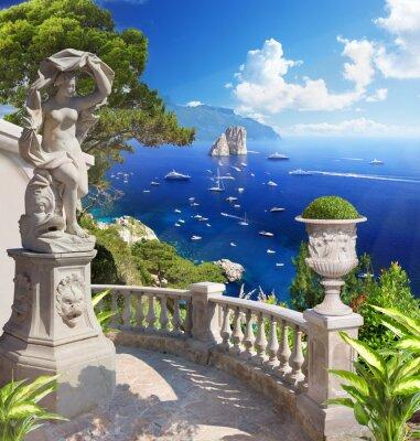 Affisch Medelhavet landskap