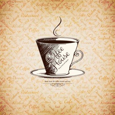 Affisch Meny för restaurang, café, bar, café