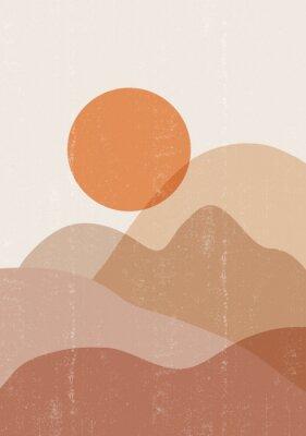 Affisch Mid century sunset print boho minimalist printable wall art