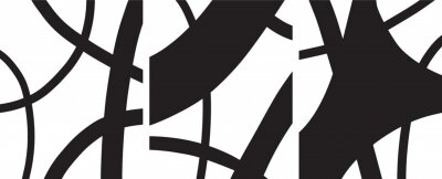 Affisch minimalist Organic abstract art mid century modern style black and white artwork templates vector set