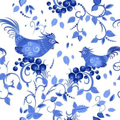 Affisch mode smidig konsistens med stiliserade blommor