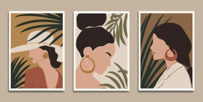 Affisch Modern art prints in boho style. Eps10 vector.