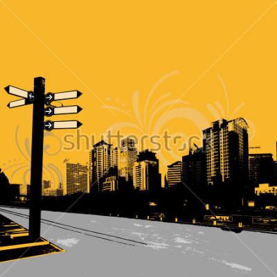 Affisch modern grunge urban grafisk design