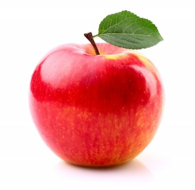 Affisch Moget äpple med blad