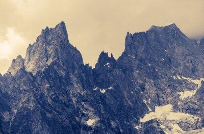 Affisch Molnigt Alp Berg