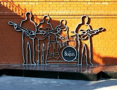 Affisch Monument till The Beatles i Jekaterinburg, Ryssland