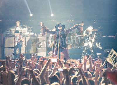Affisch Moskva, RYSSLAND - 24 maj 2014 - Amerocan rockband Aerosmith uppträder på Olimpiysky den 24 maj 2014 Moskva