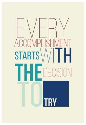 Affisch Motivational affisch för en bra början