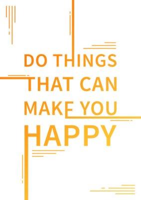 Affisch Motiverande citat. Positiv bekräftelse. Vektor typografi konceptdesign illustration.