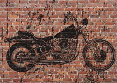 Affisch Moto sport grunge