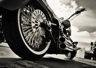 Affisch Motorcykel
