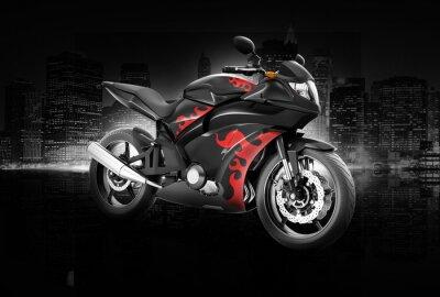 Affisch Motorcykel Motorcykel cykling Rider Contemporary Concept