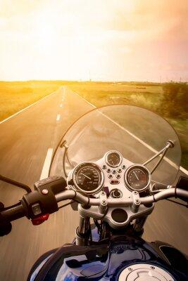 Affisch Motorcyklist view