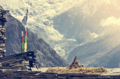 Affisch Mountain View, Annapurnas i Nepal.