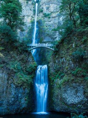 Affisch Multnomah nedgångar i Columbia Gorge